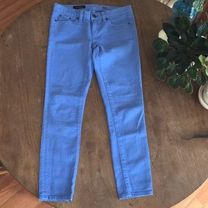 J Crew Toothpick periwinkle Jeans 25 ankle EUC